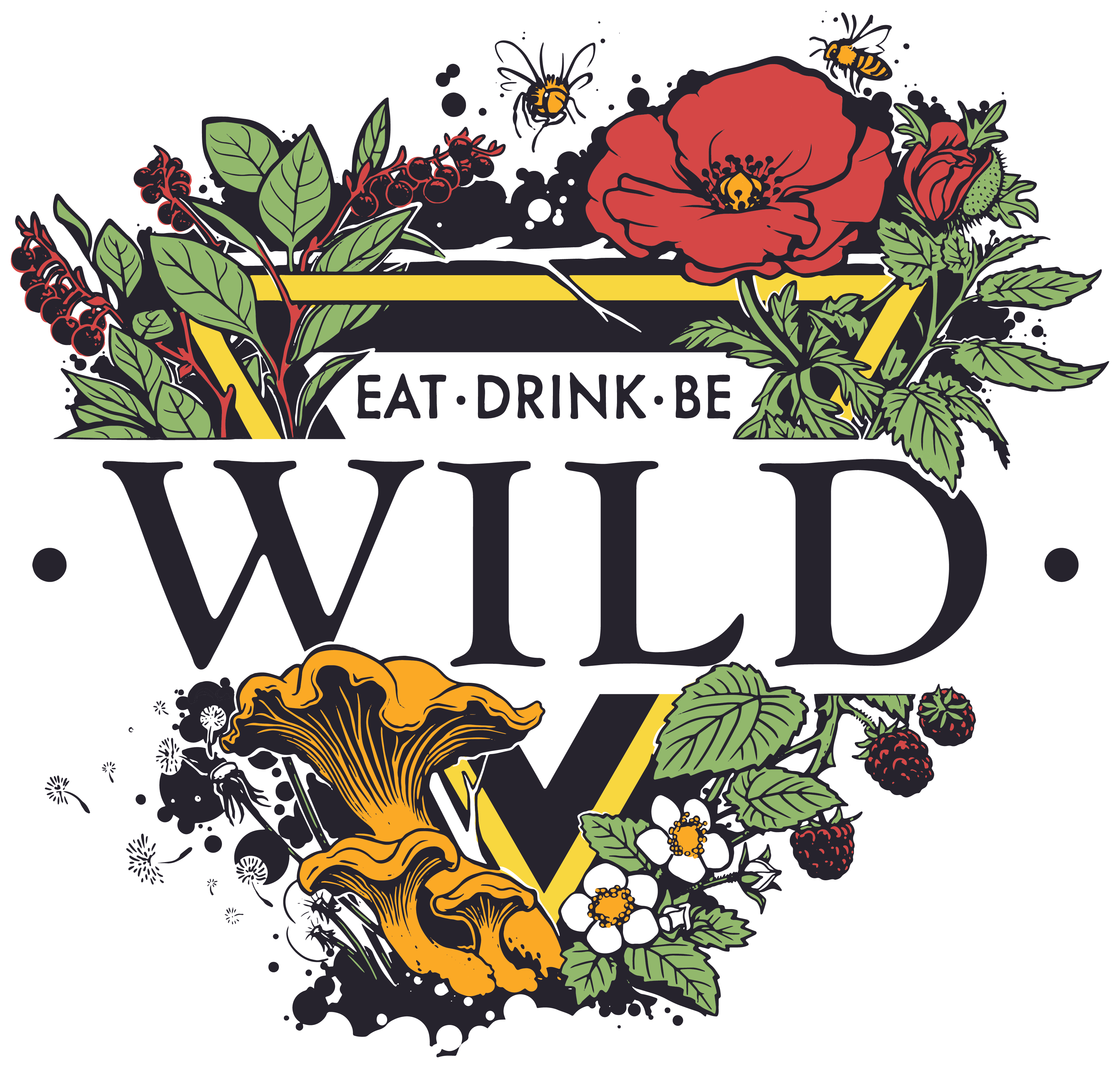 Colorful logo for Wild Grocery in Manzanita