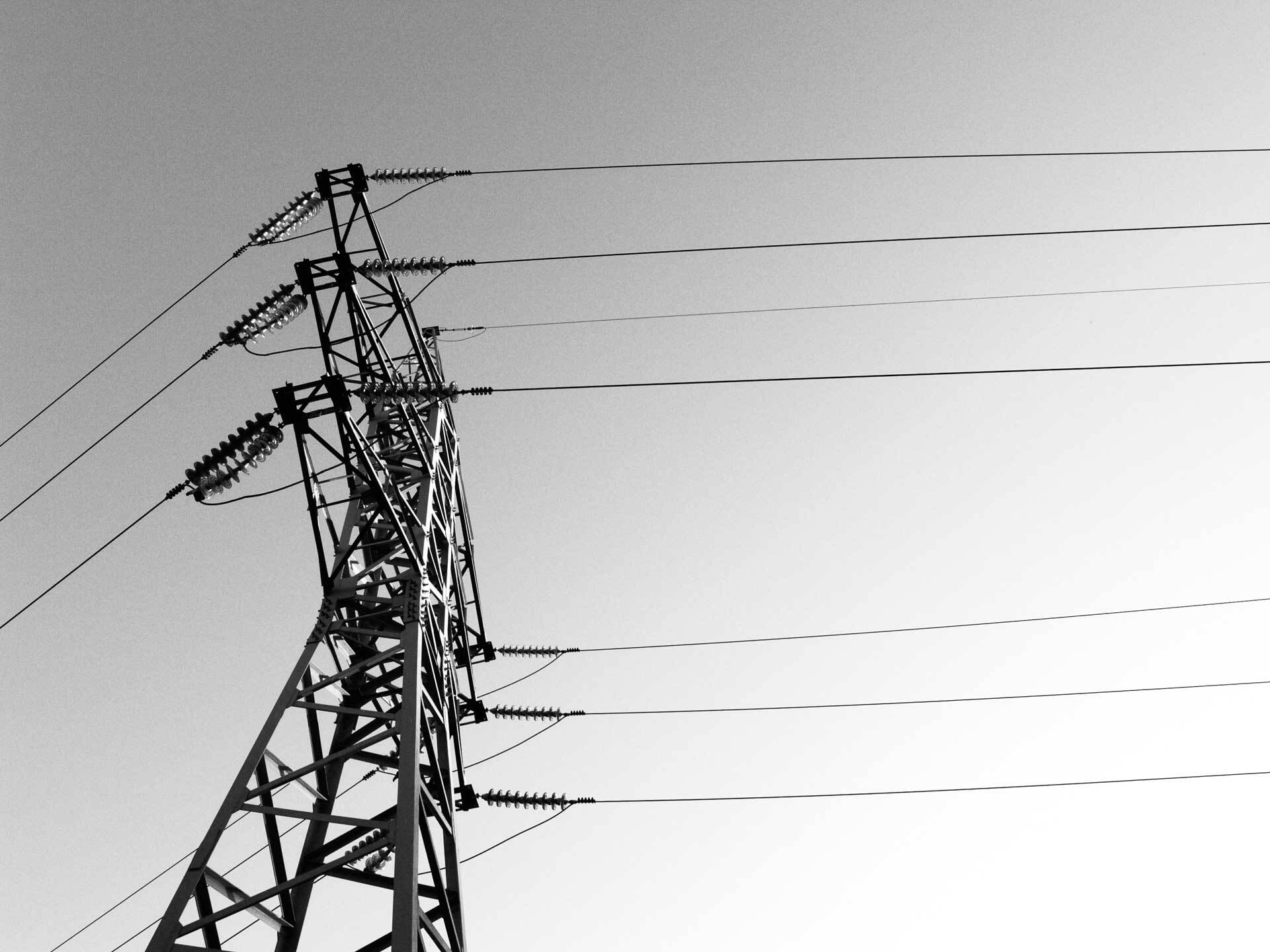 Abstract powerlines.