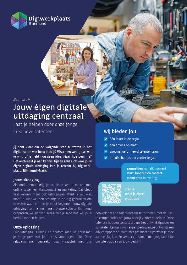 MKB ondernemers weten de weg naar Digiwerkplaats Rijnmond te vinden