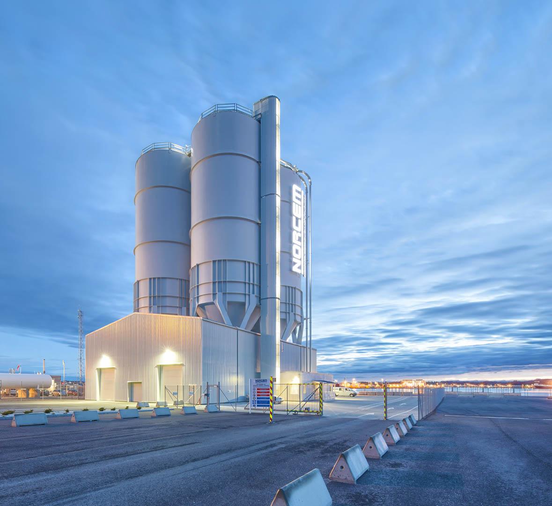 Cementterminal til Norcem i Risavik