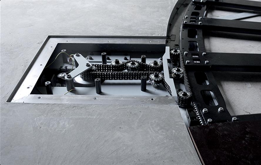 PhotoRobot CAROUSEL - vstavaná podlaha - detaily prevodových stupňov