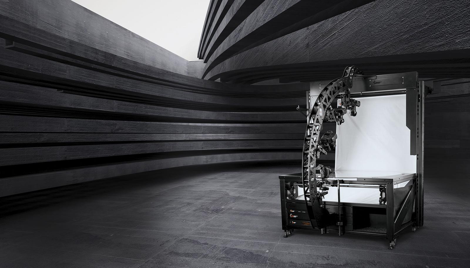 PhotoRobot الروبوتيه TURNTABLE مع MULTICAM ذراع الكاميرا الروبوتية