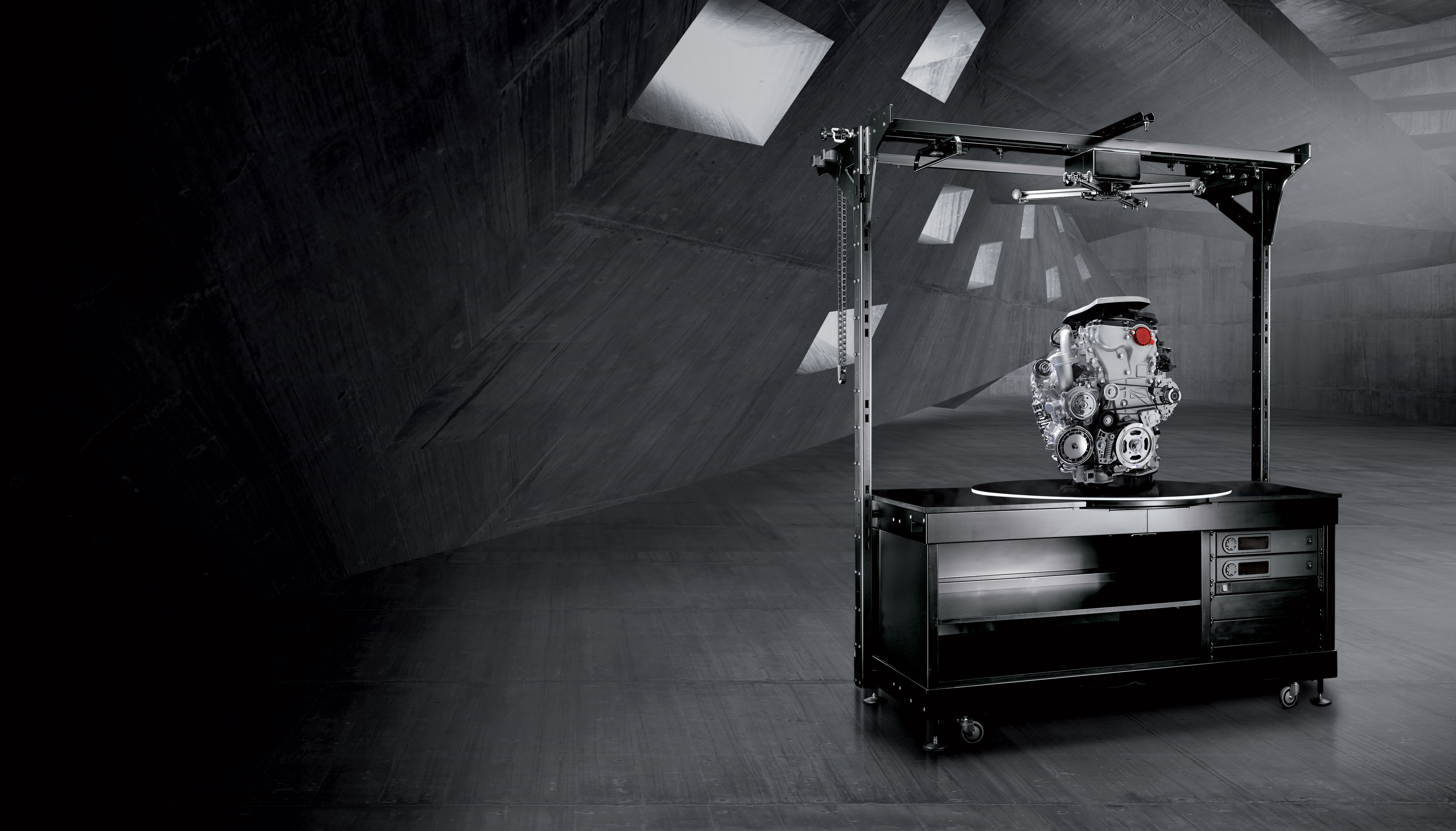 PhotoRobot الثقيلة واجب الروبوتية القرص الدوار أثناء اطلاق النار على المحرك الثقيل