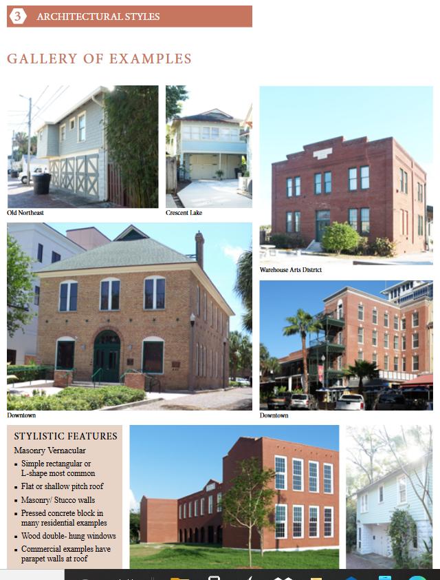 A gallery of Masonry Vernacular style buildings around St. Pete