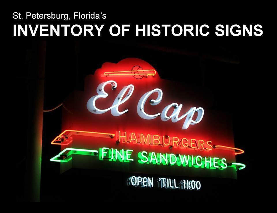 A photo of El Cap's neon sign