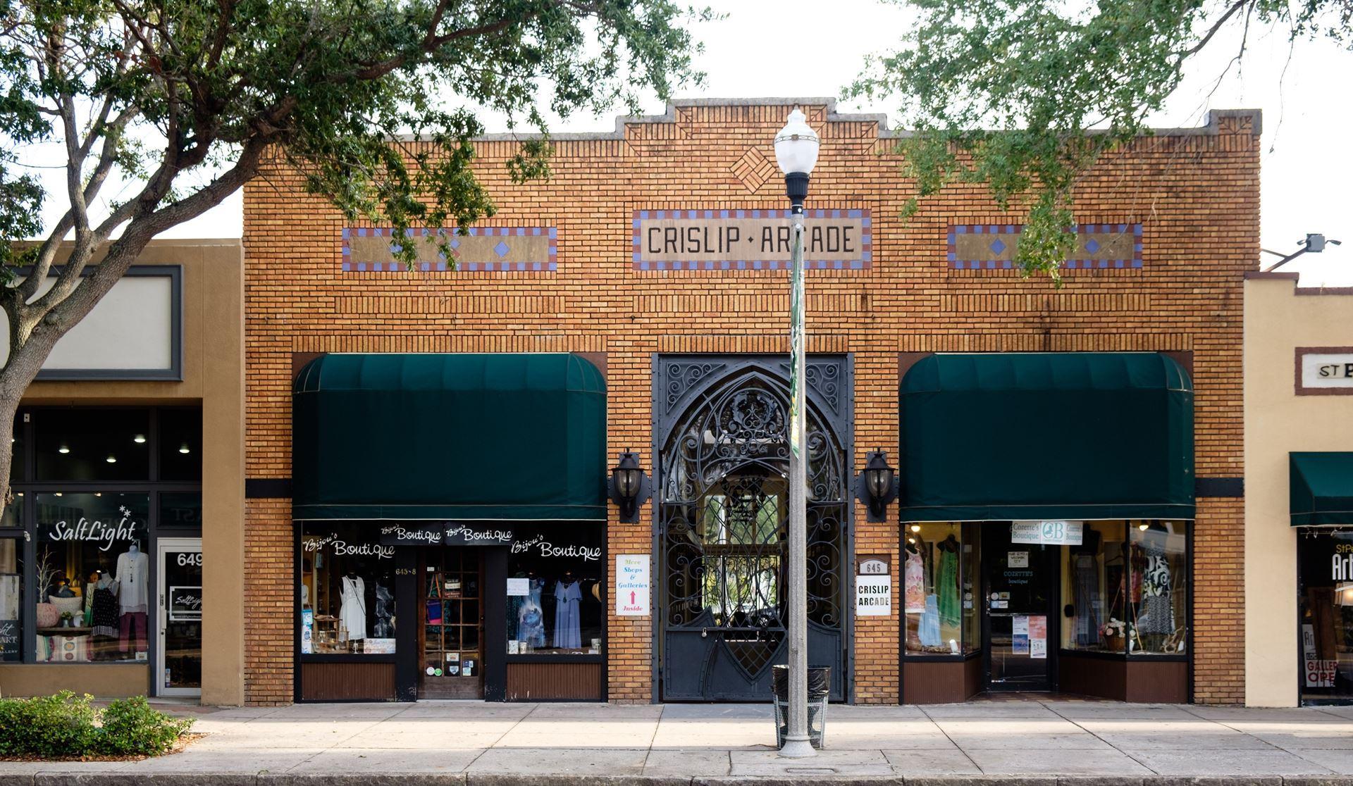 Storefront of Crislip Arcade