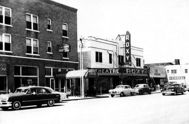 St. Petersburg Hotel and Roxy Theatre in 1942