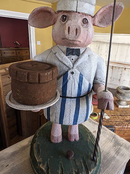 Victorian carved wood Pig