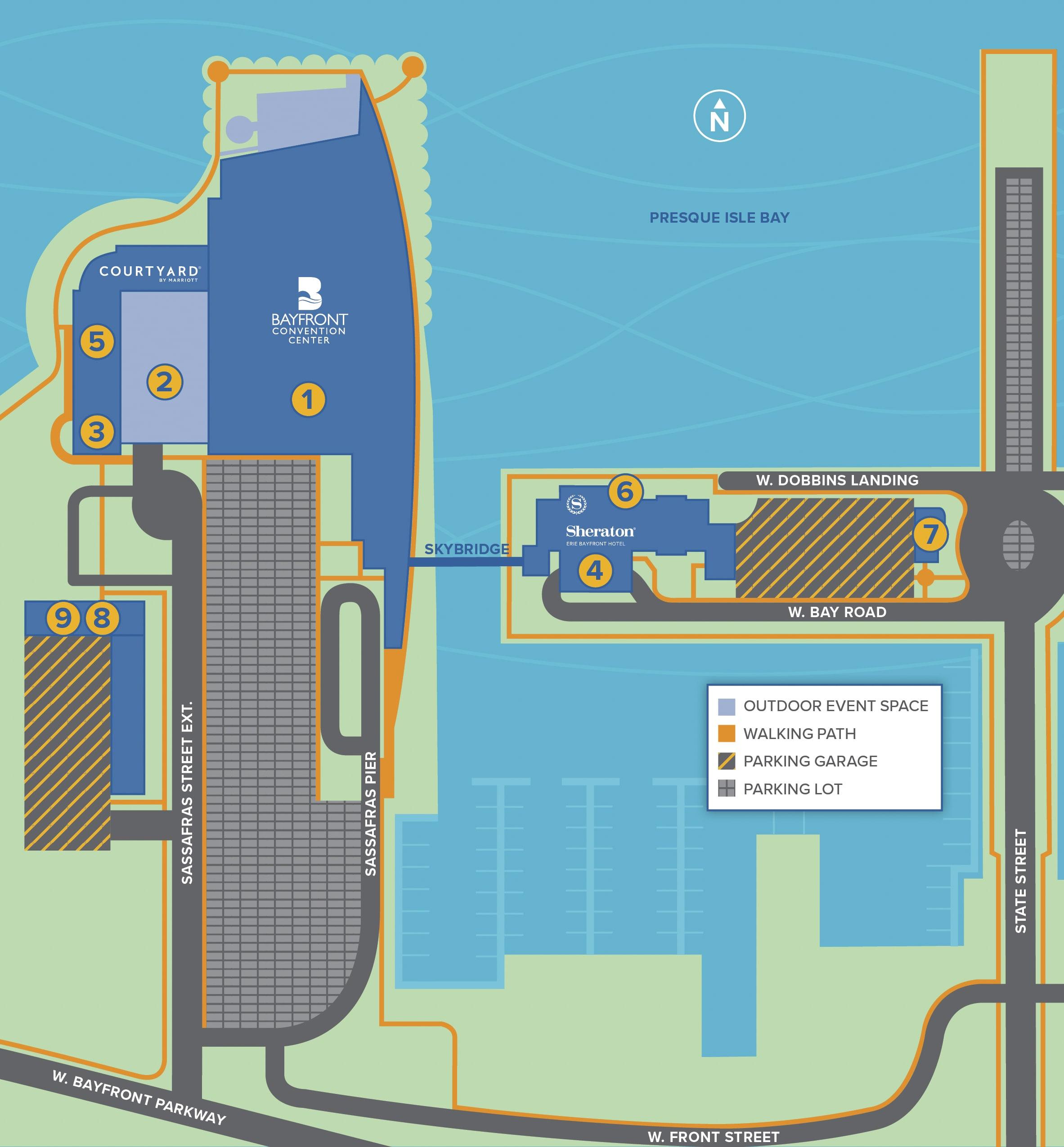 Campus map of Bayfront Landing