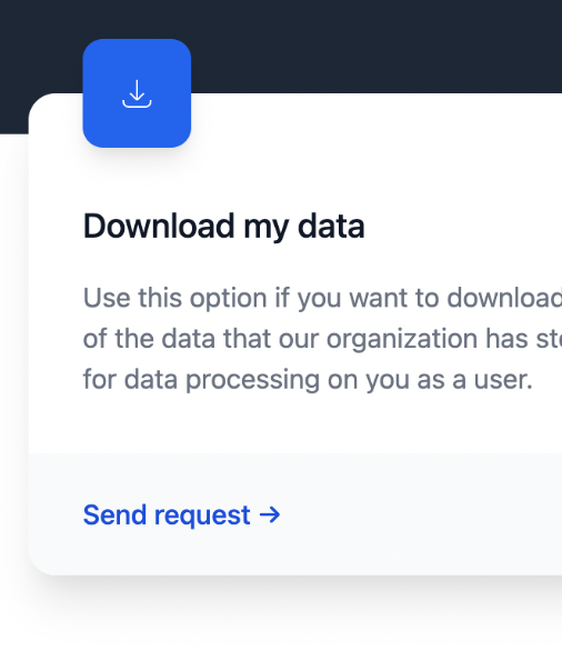 allow users to easily request and download their data