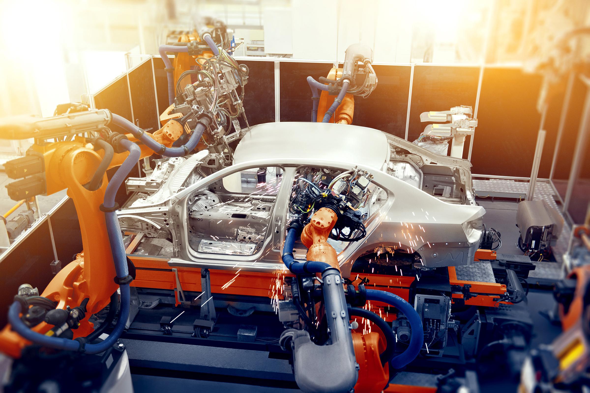 Löschanlage für Brandschutz in der Autoproduktion