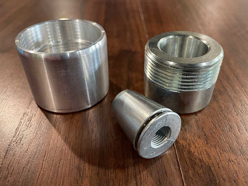 CSC Chuck and 3 wedge deadend system