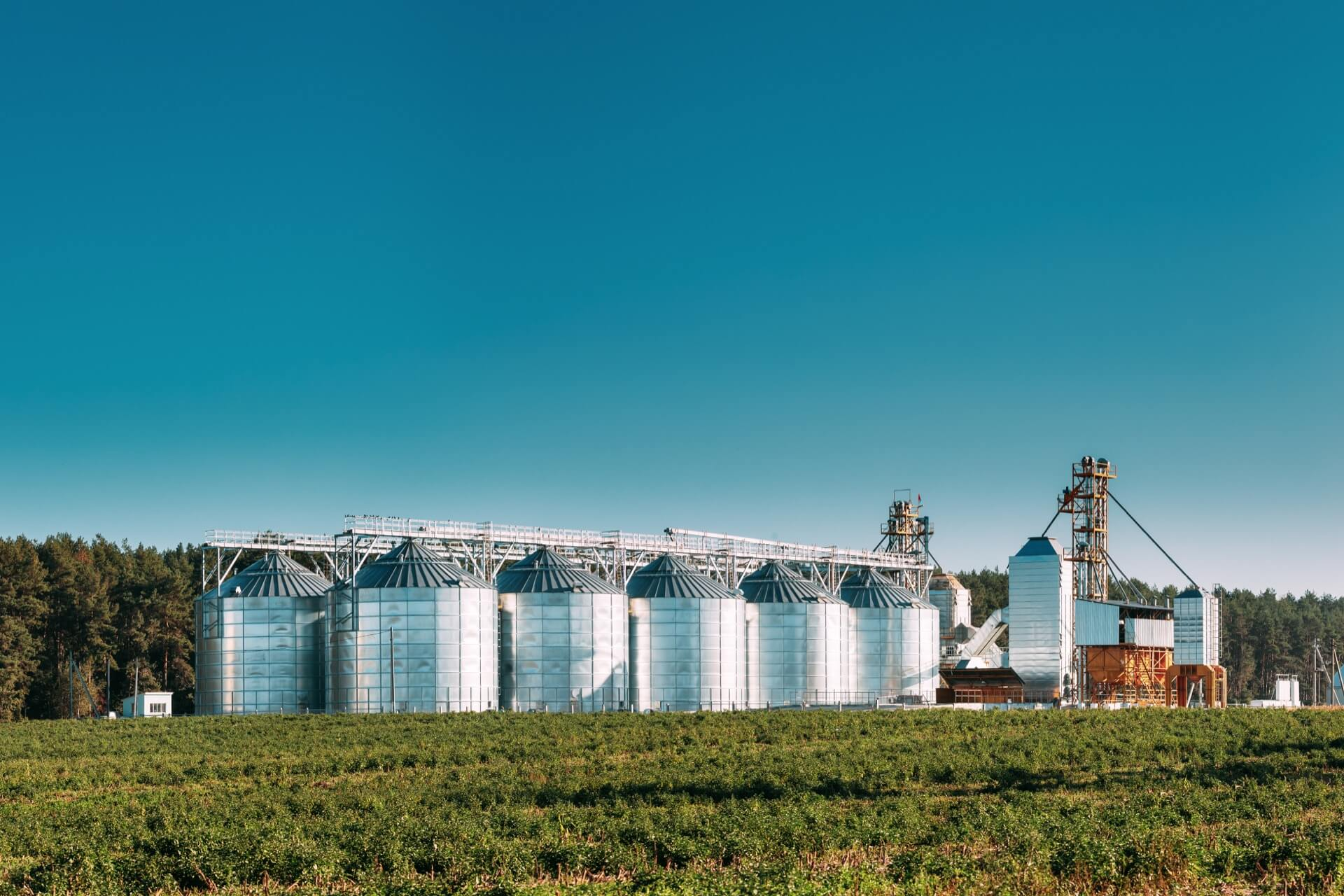 Image of an american grainery and silos