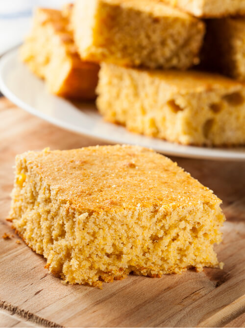 a picture of delicious corn bread developed by heroes kitchen