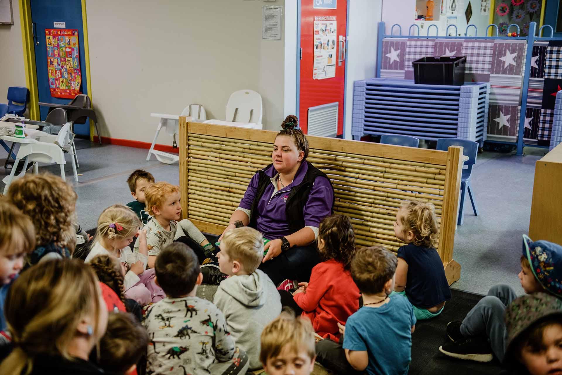 Teacher teaching children at Centrepoint childcare centre