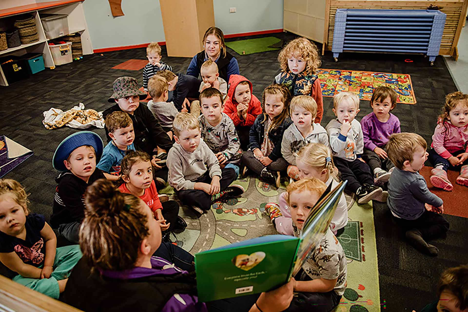 Students in class at Centrepoint childcare centre