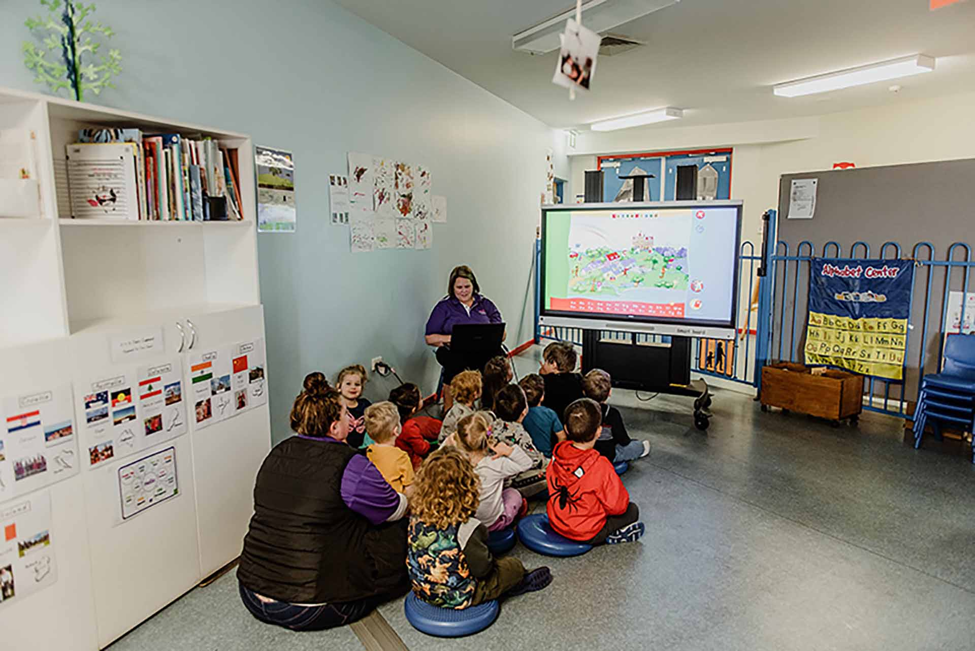 Children in class at Centrepoint child centre
