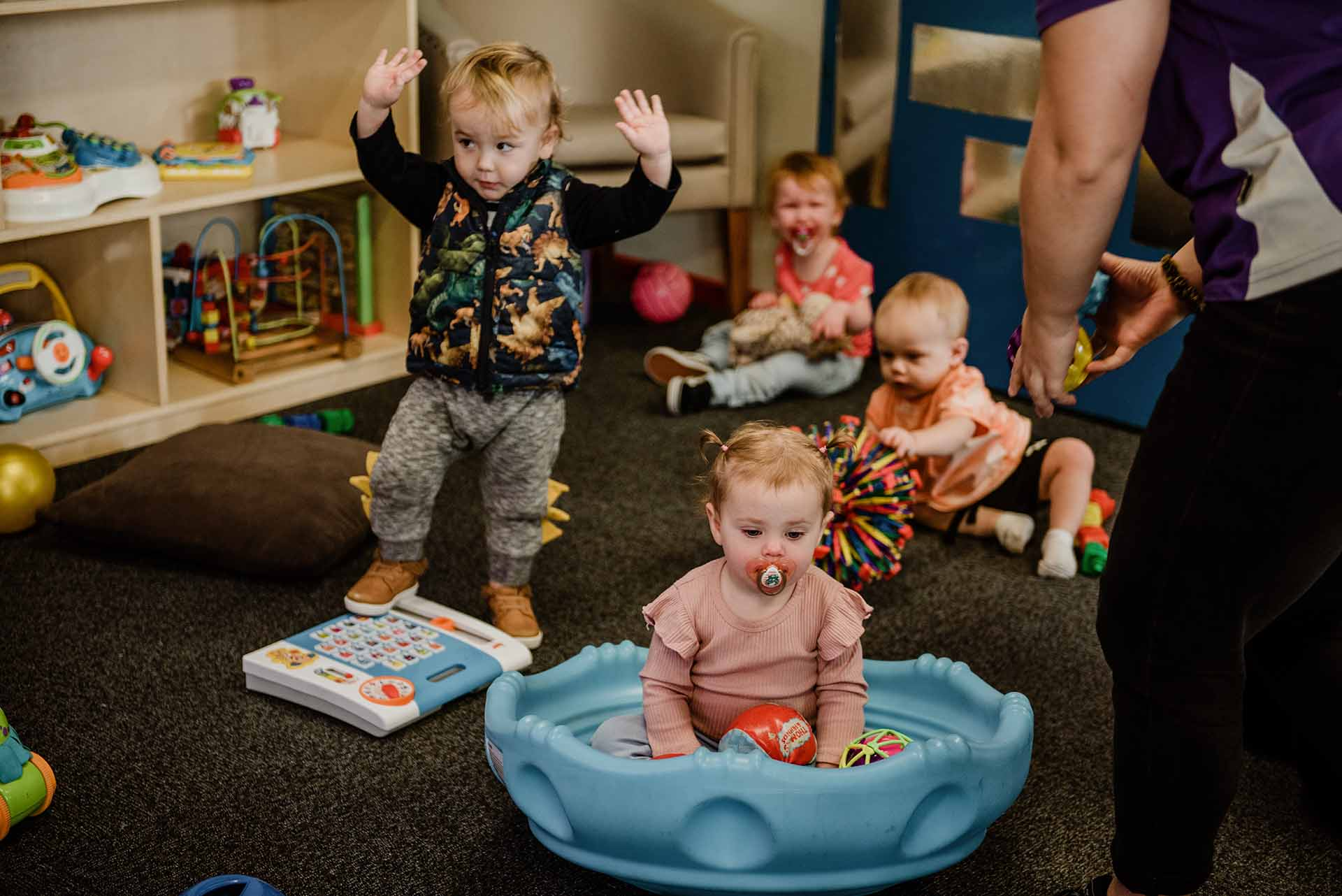 Toddlers playing at Centrepoint child centre