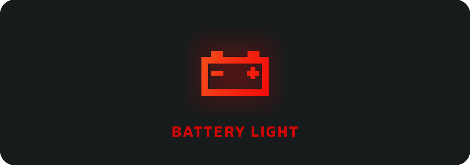 Battery car warning light