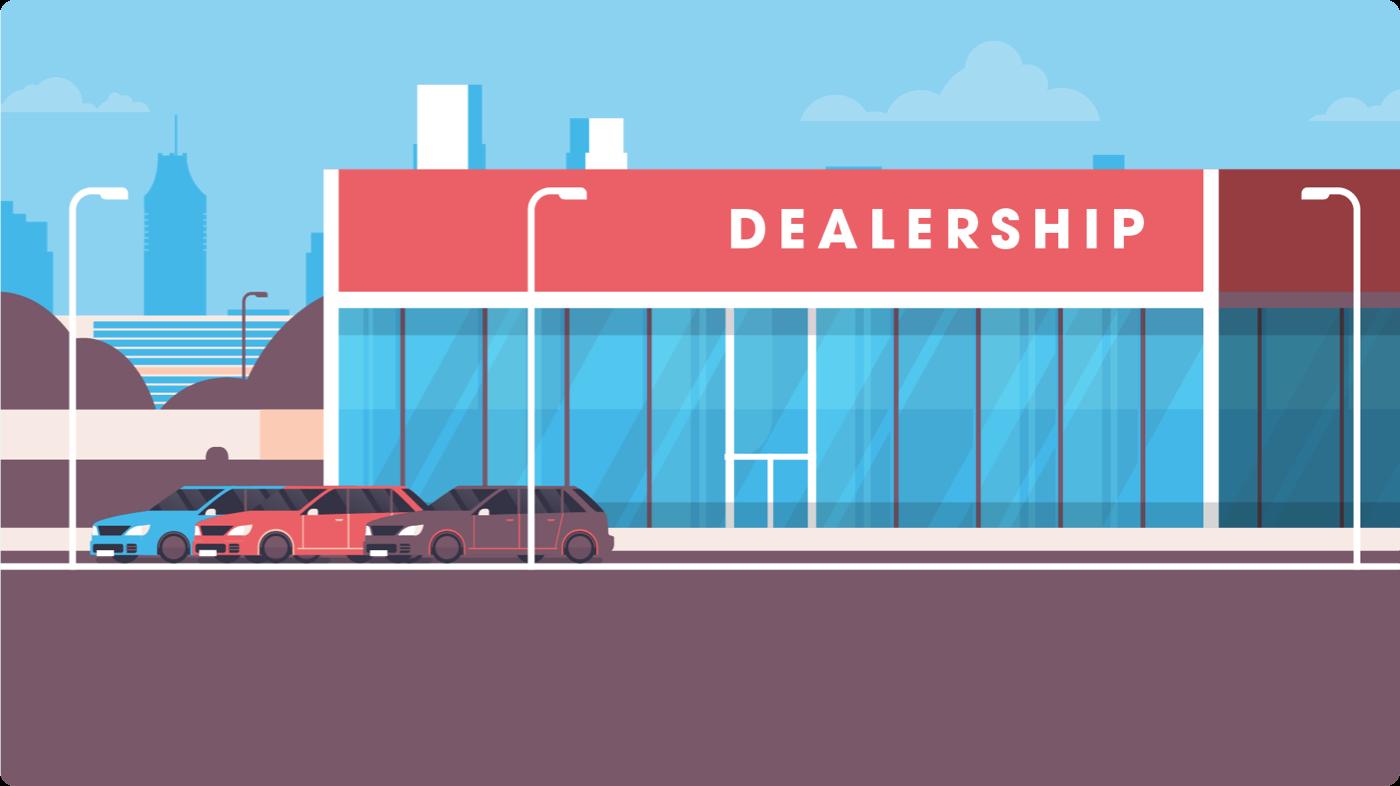 Used Car Dealership storefront