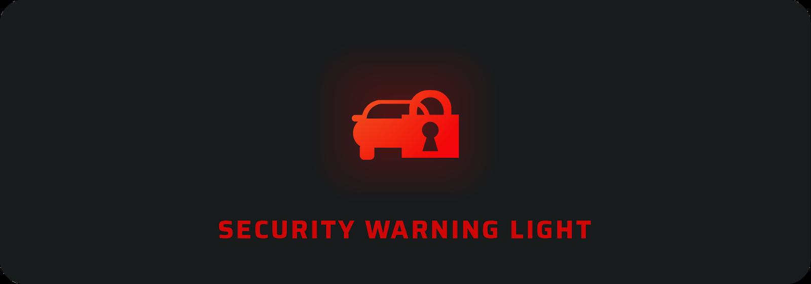 Security warning light