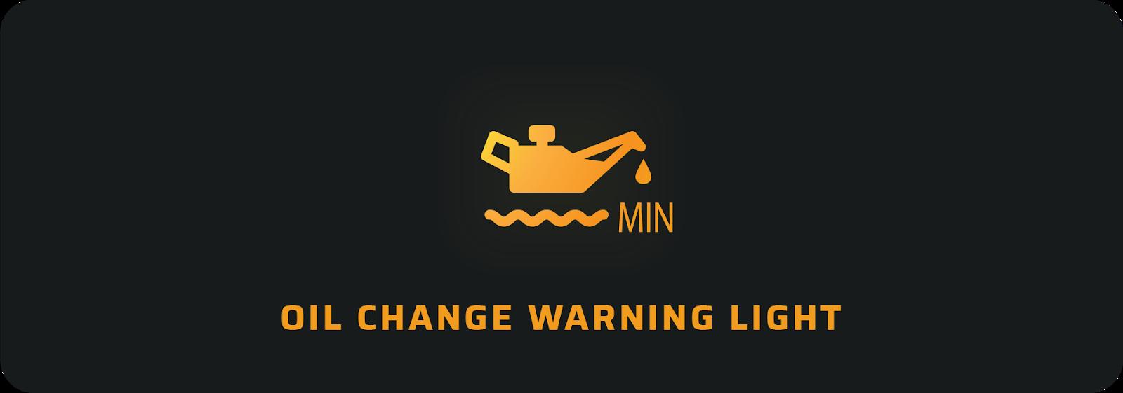 Oil change warning light