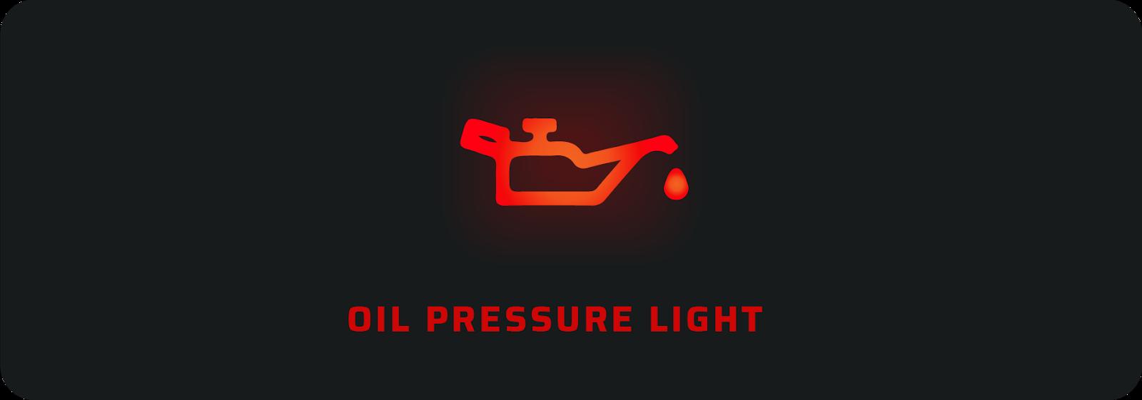 Oil pressure car warning light