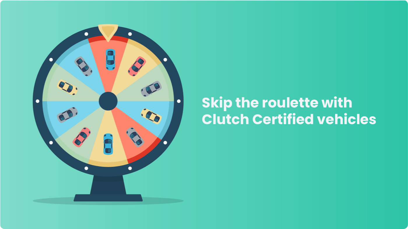 Skip the roulette with Clutch-certified used rental cars for sale