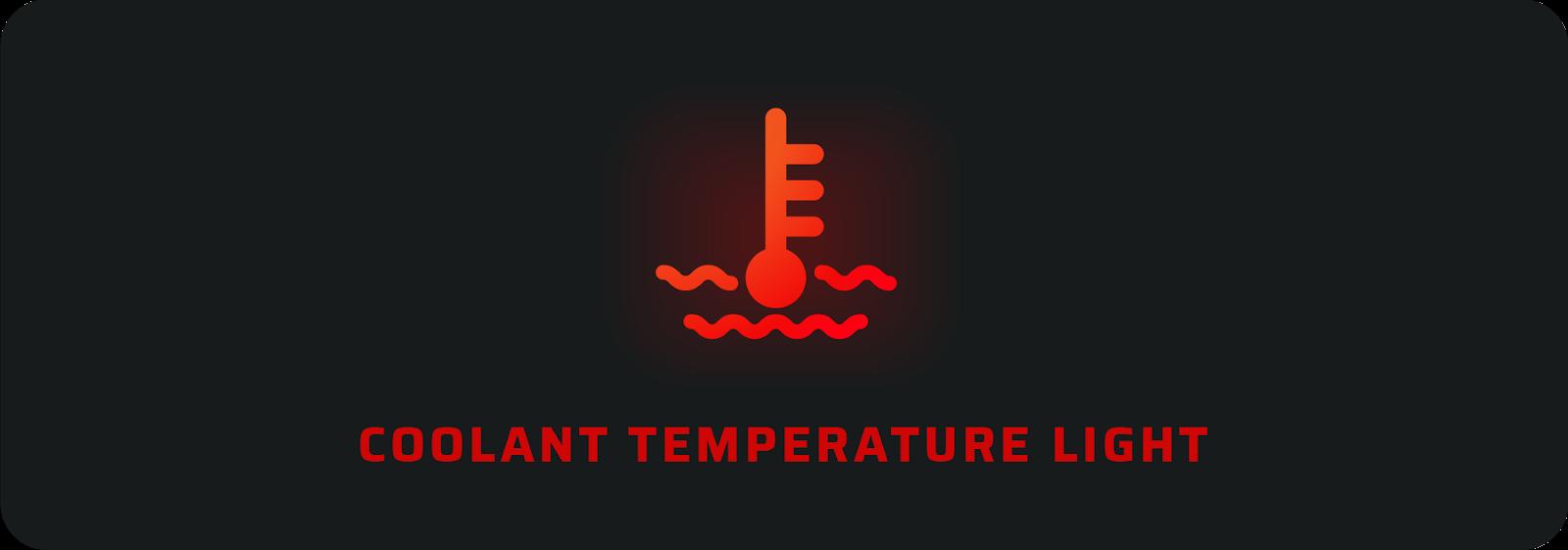 Car warning lights: Coolant temperature