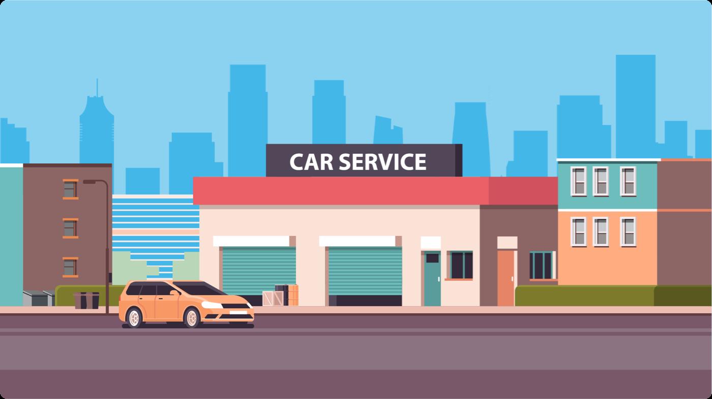 Car service shop
