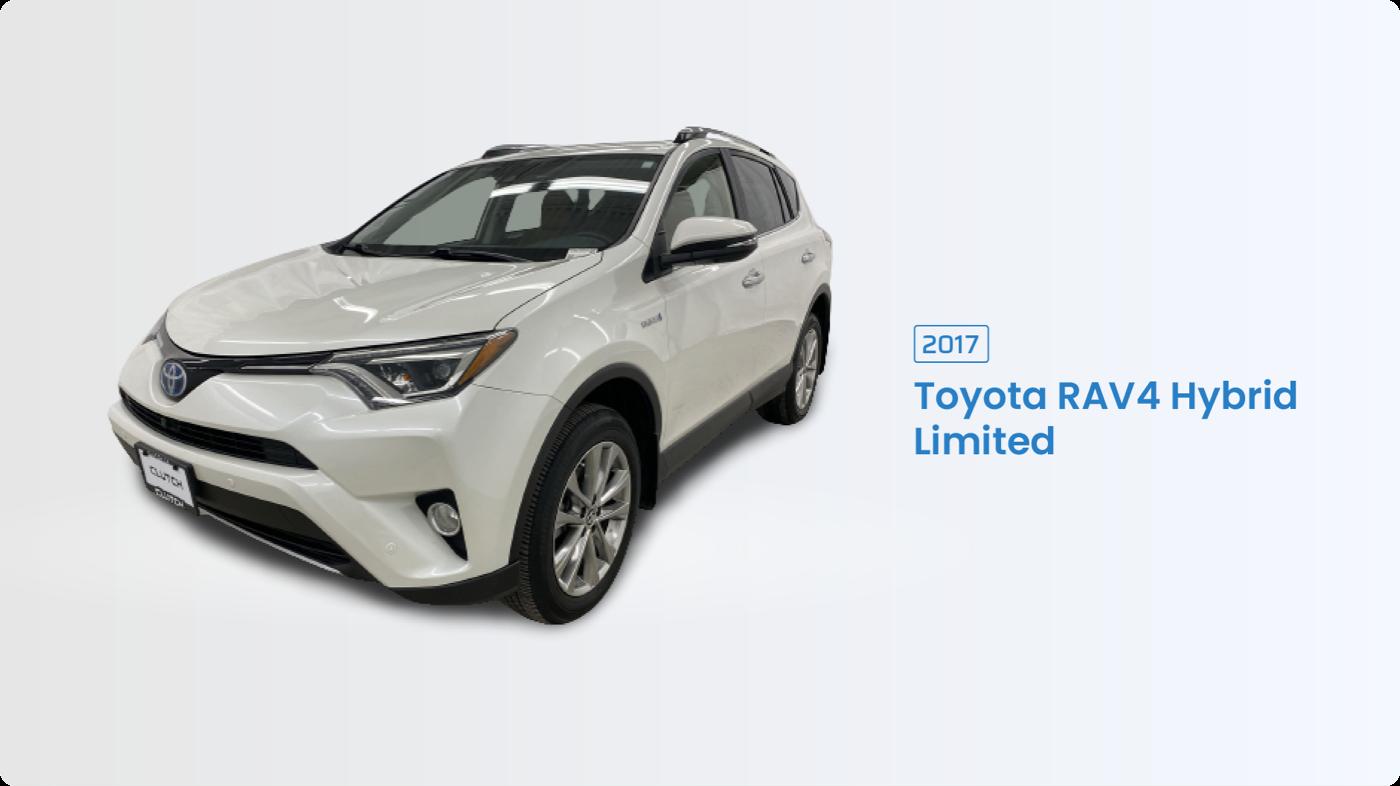 Most Fuel Efficient SUV: 2017 Toyota RAV4 Hybrid Limited