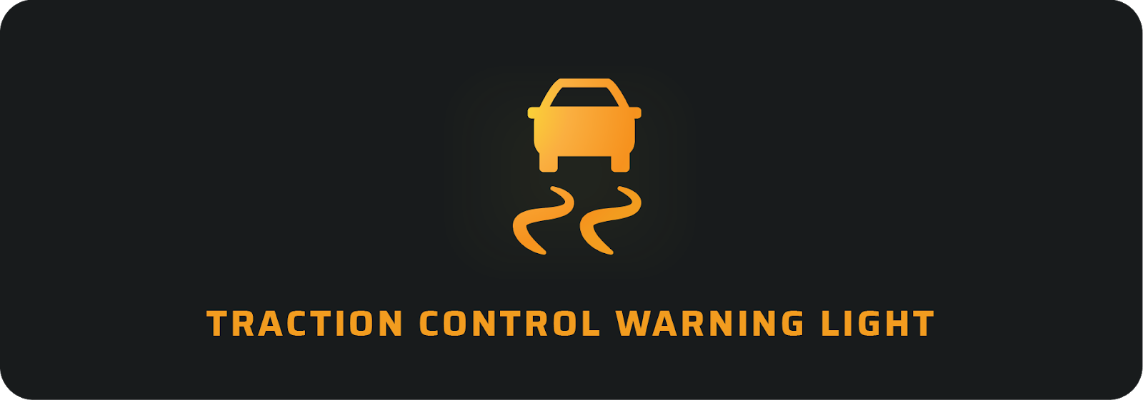 Traction control warning light