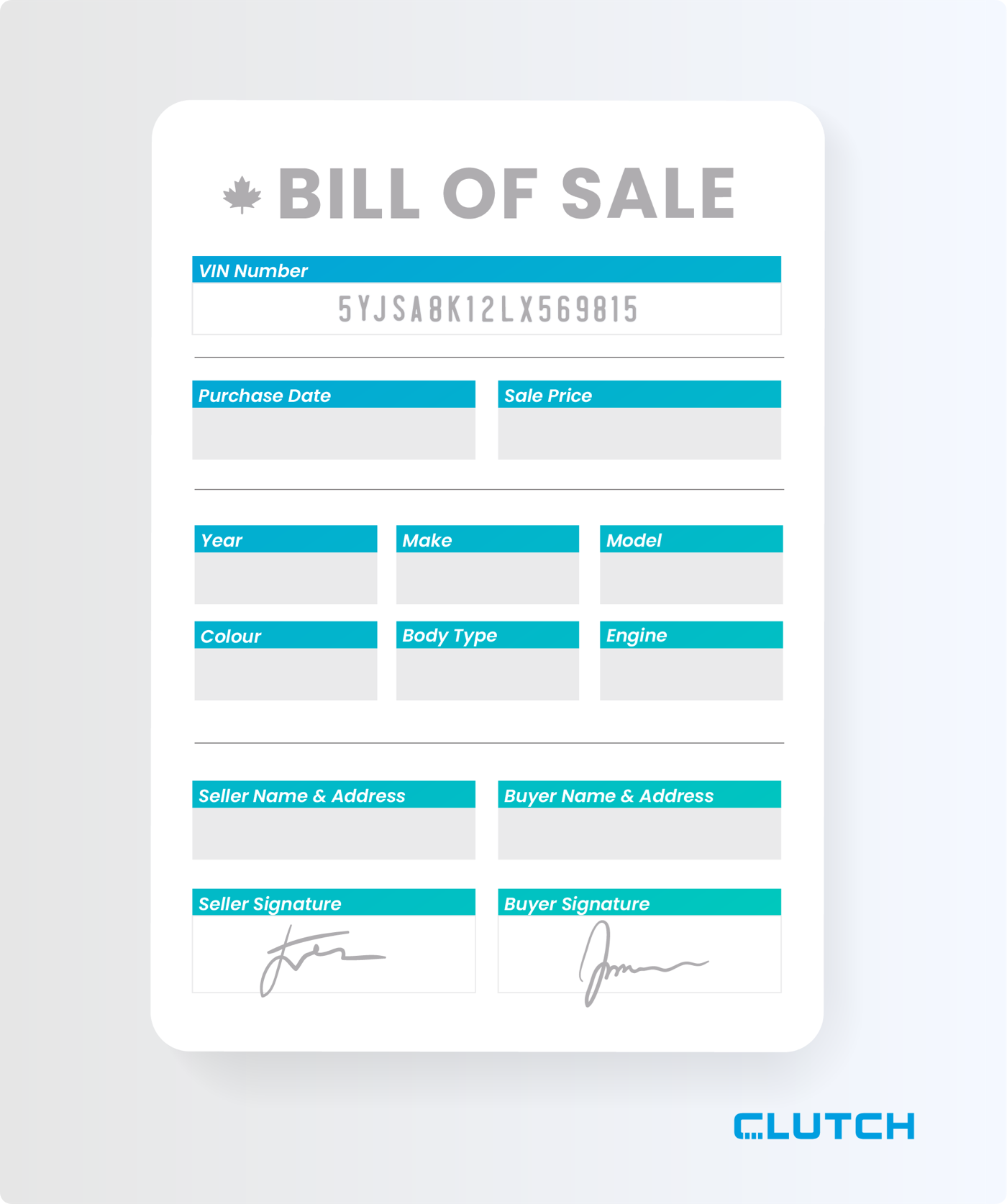 Bill of sale in Ontario