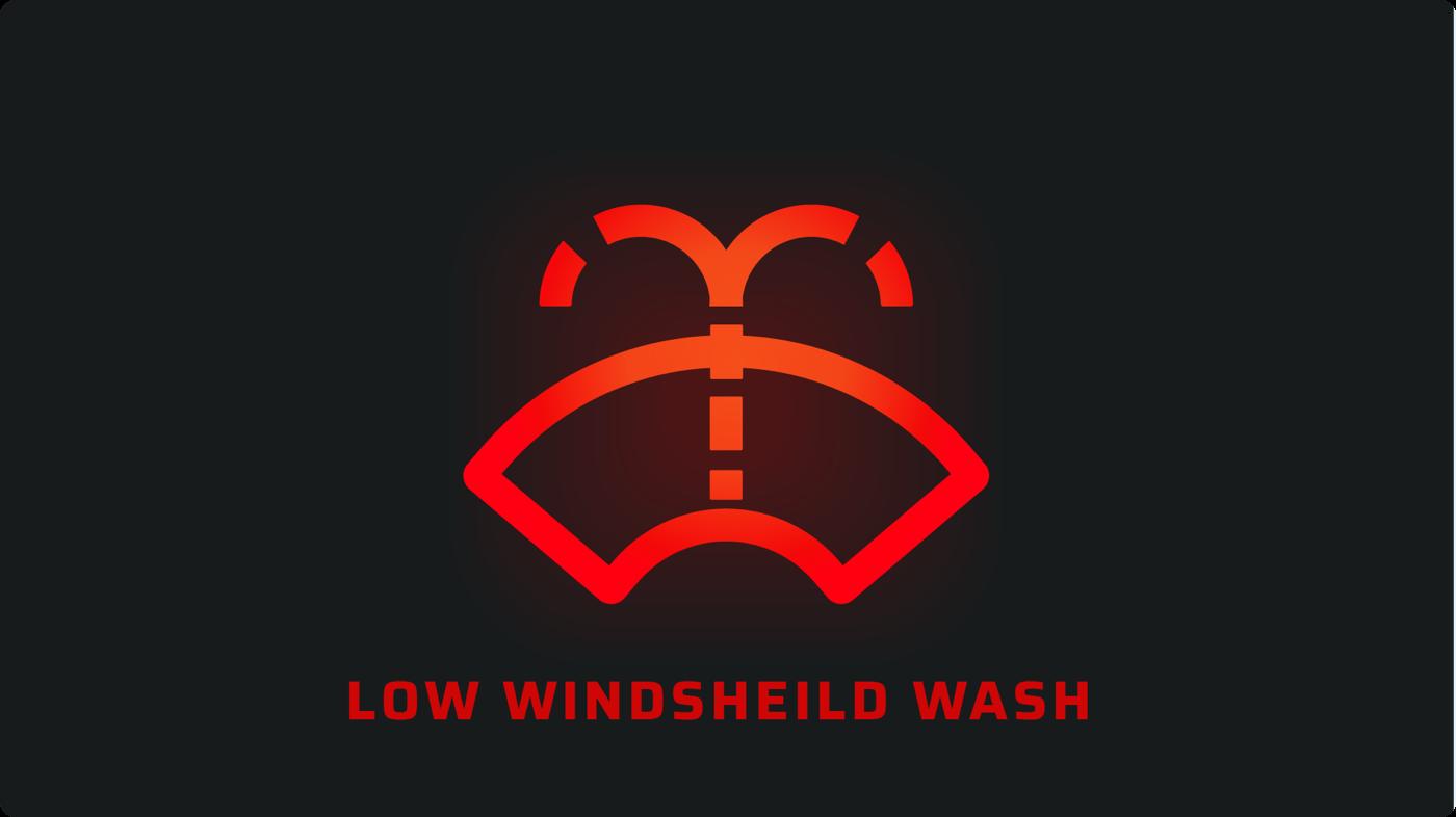 Low windshield washer fluid car signal