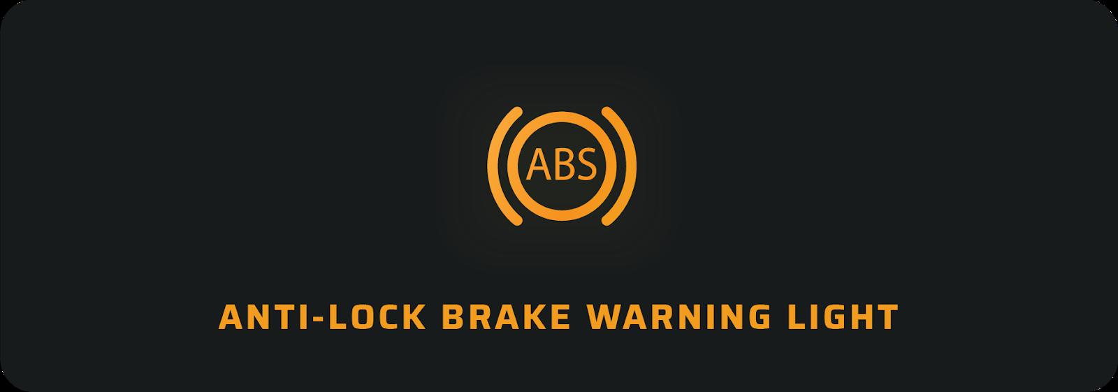 Anti-lock brake car warning light