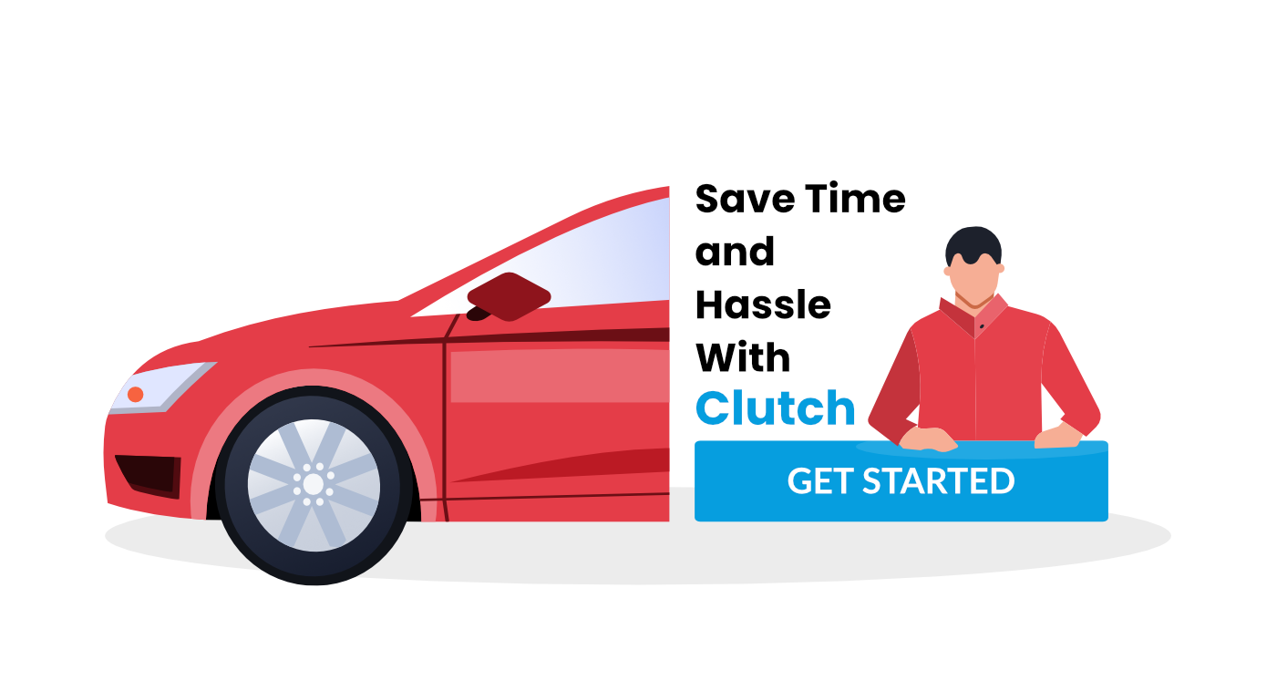 Male with Car above Get Started Button