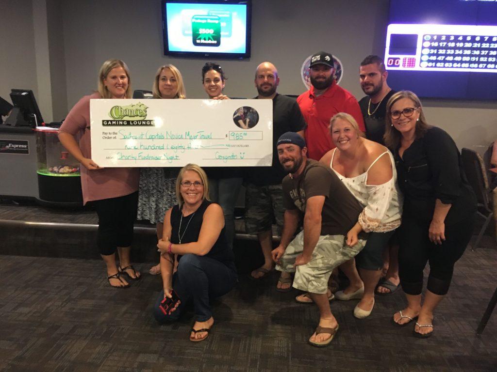 Southeast Capitals Novice Major Travel made $985 with our Community Bingo Fundraiser!
