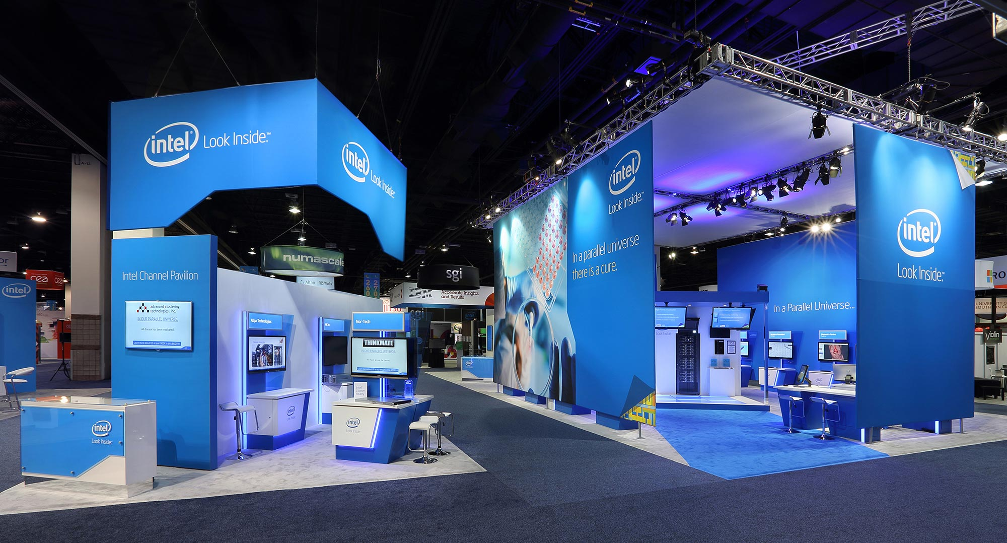 Intel Stand graphics and motion graphics