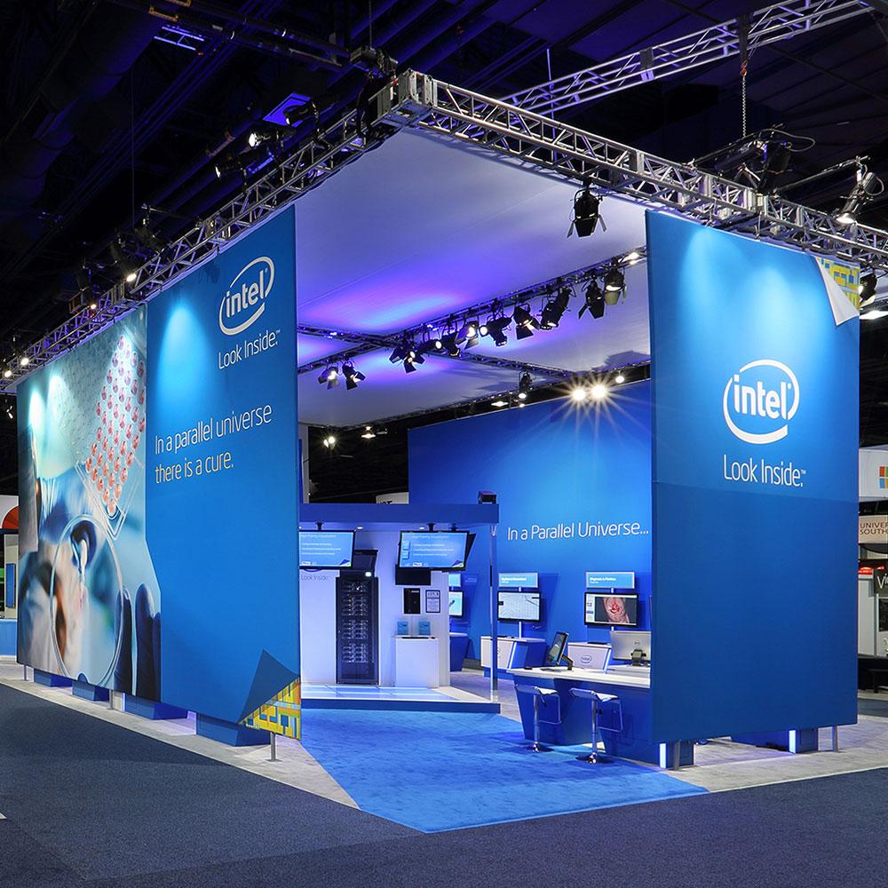 2LK Design - Intel stand Look Inside
