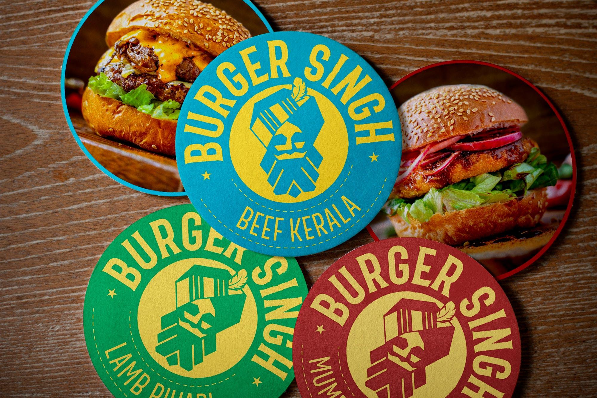 Burger Singh Coasters