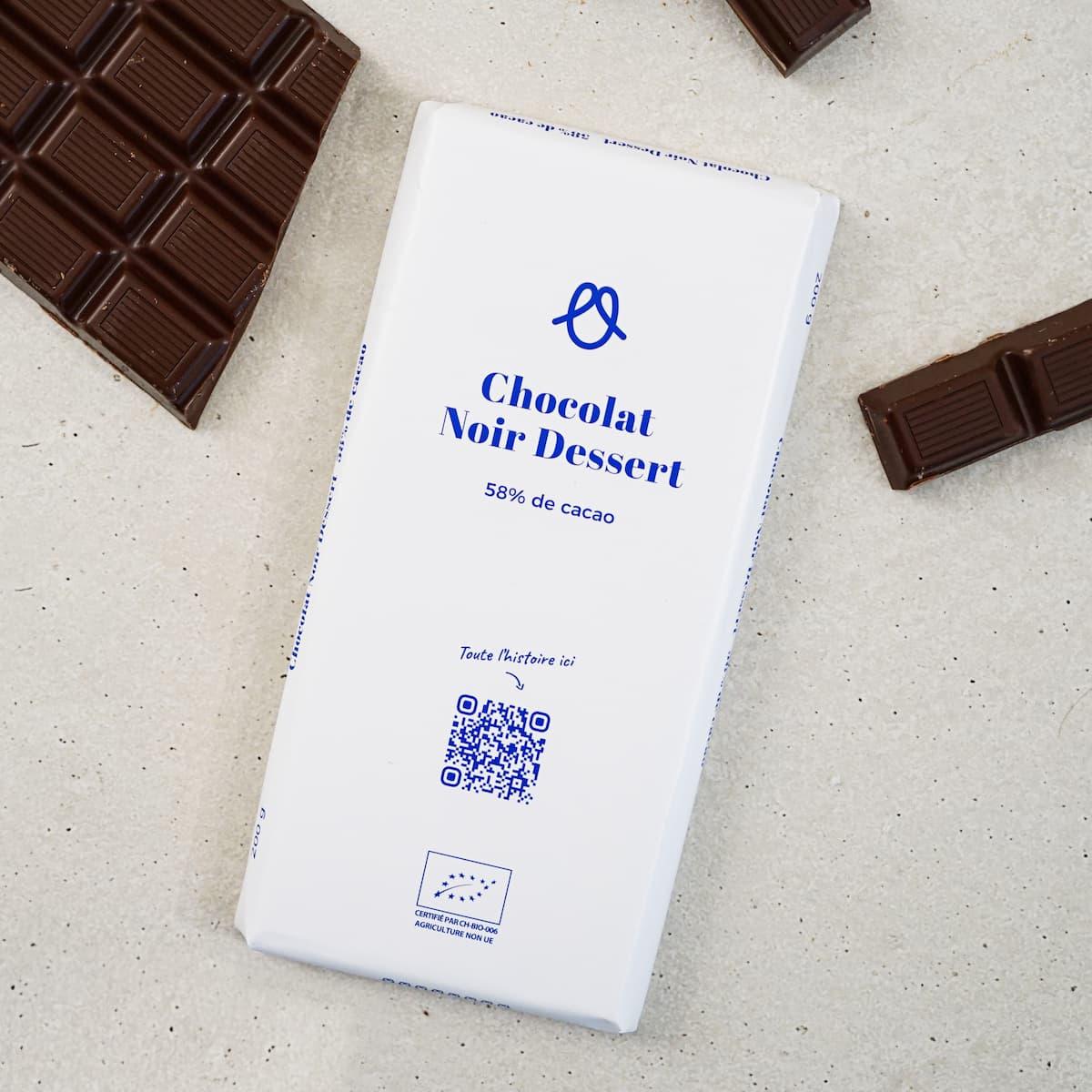 Chocolat noir dessert 58% - 200g