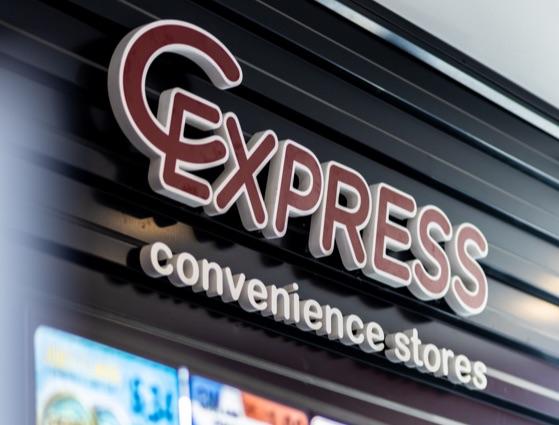 c-express logo sign