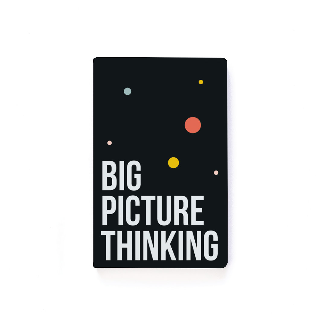 Inspired by our love for working ON your business instead of always IN it, this Big Picture Thinking Journal is perfect to keep you inspired and on task. Enjoy your new softcover notebook 144 pages of space to think big! Includes content prompts to keep you focused!