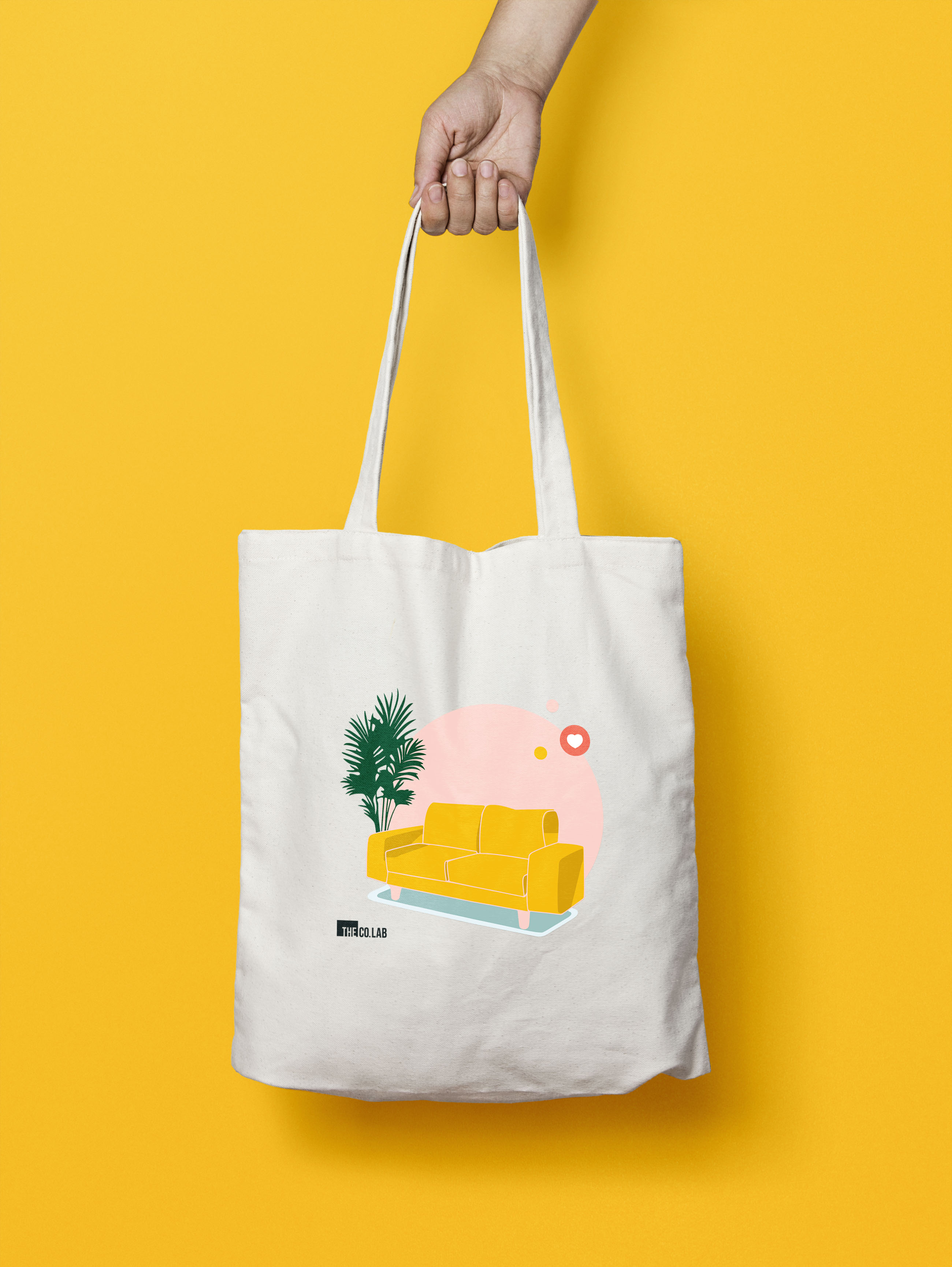 We felt there was no better design for our signature tote than our famous Yellow Couch. This piece of furniture laid the foundation of our story and it brings us great joy to see it carried around by our community members in this versatile tote.