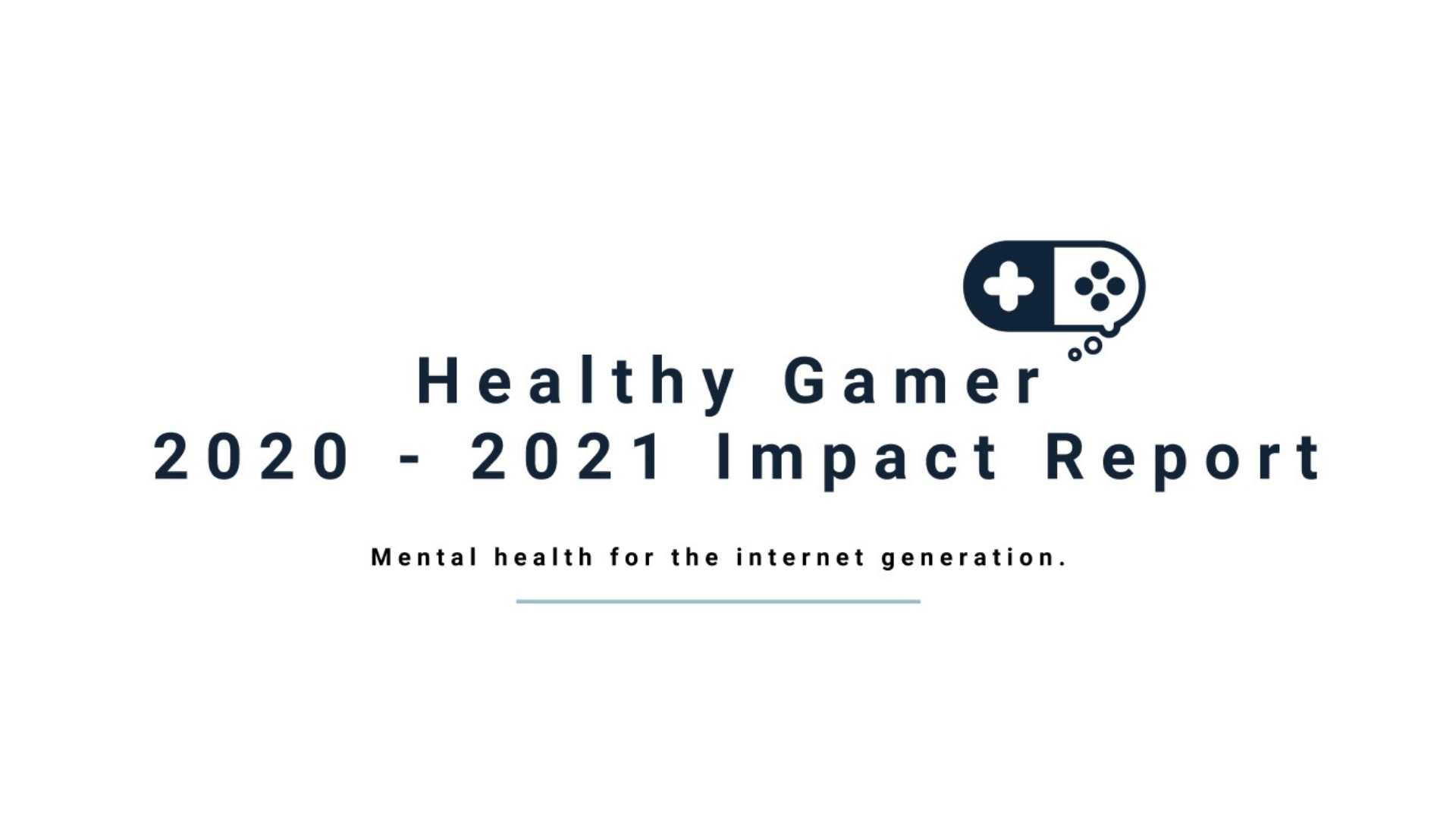 Healthy Gamer Impact Report