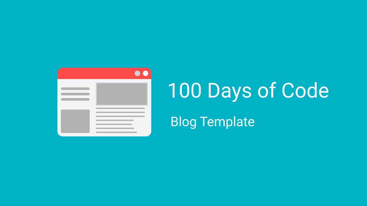 100 Days of Code journal template