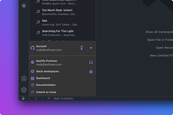 Music Time for Spotify player controls in Visual Studio Code