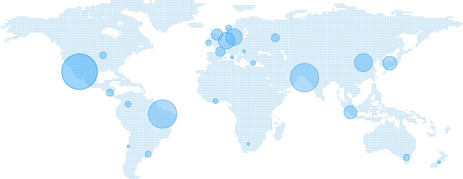World map of our users