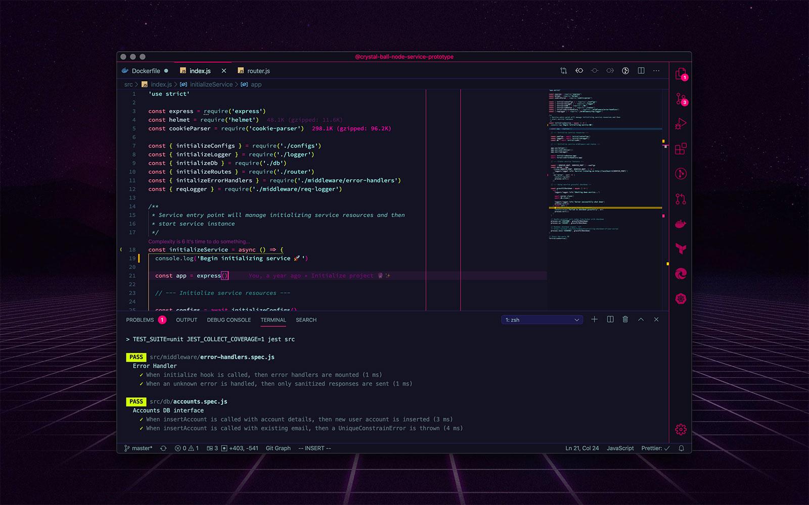 Radical VS Code theme