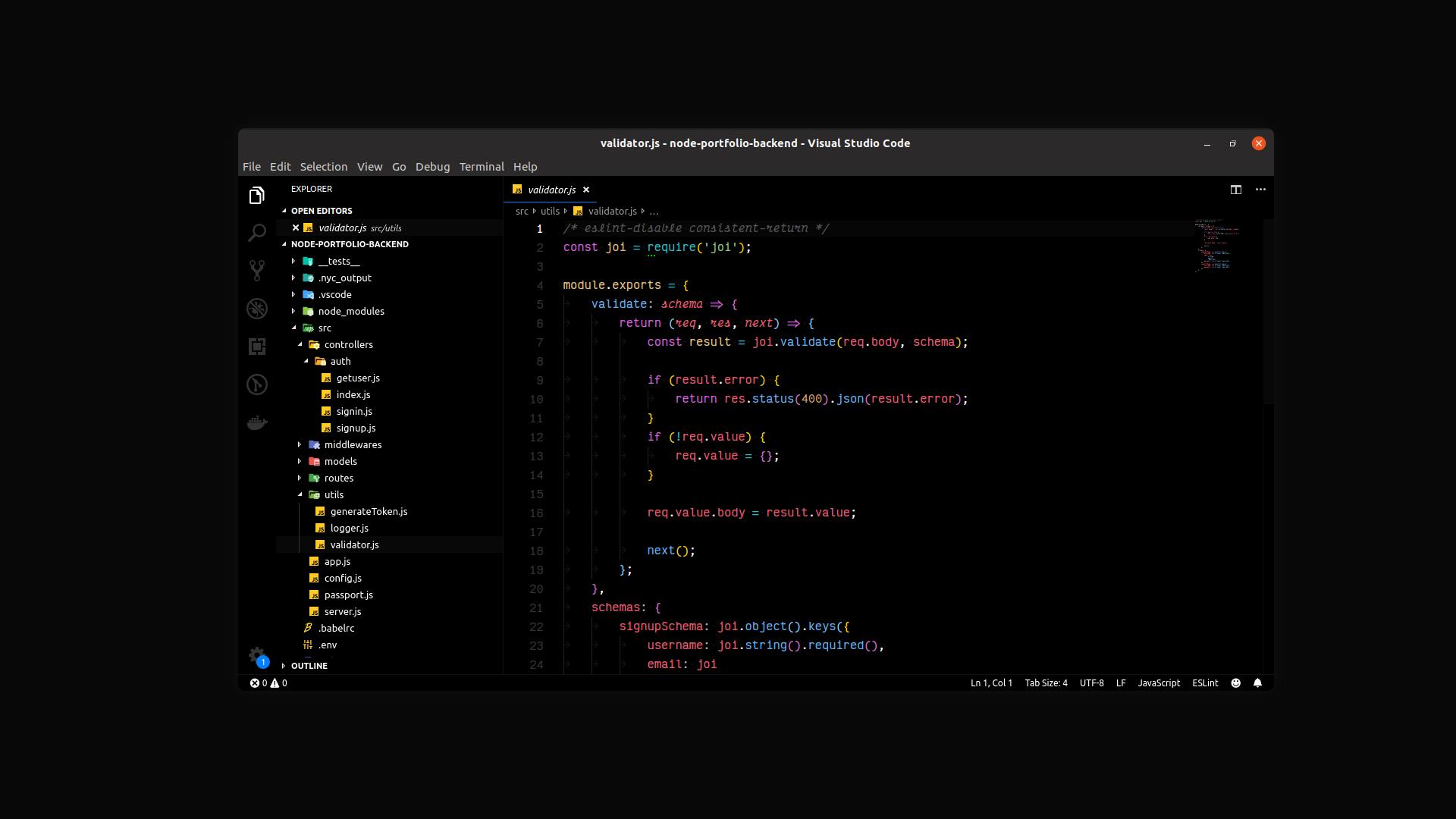 Signed Dark Pro VS Code theme